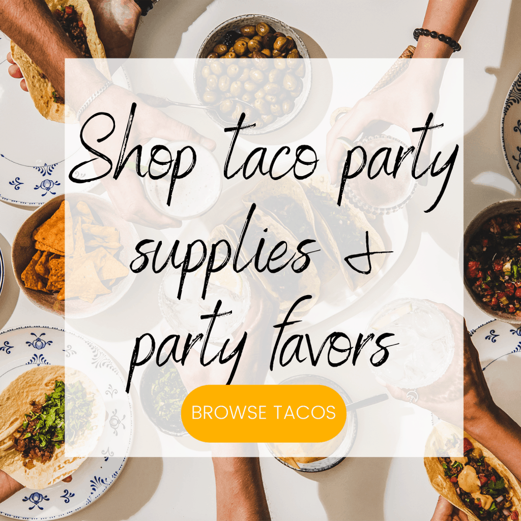 Shop taco party supplies and party favors