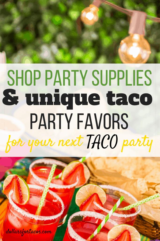 Shop party supplies and unique taco party favors